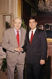 Rouzer with Jesse Helms in 2000