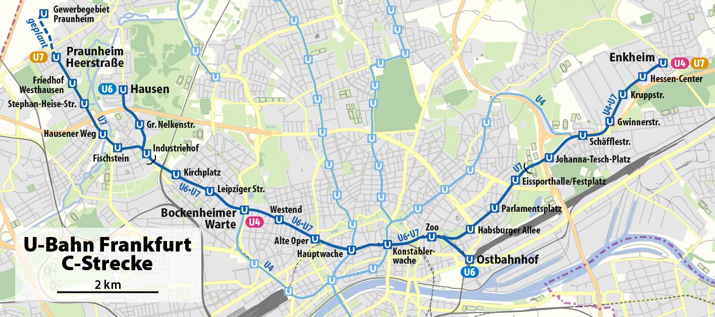 u bahn frankfurt map