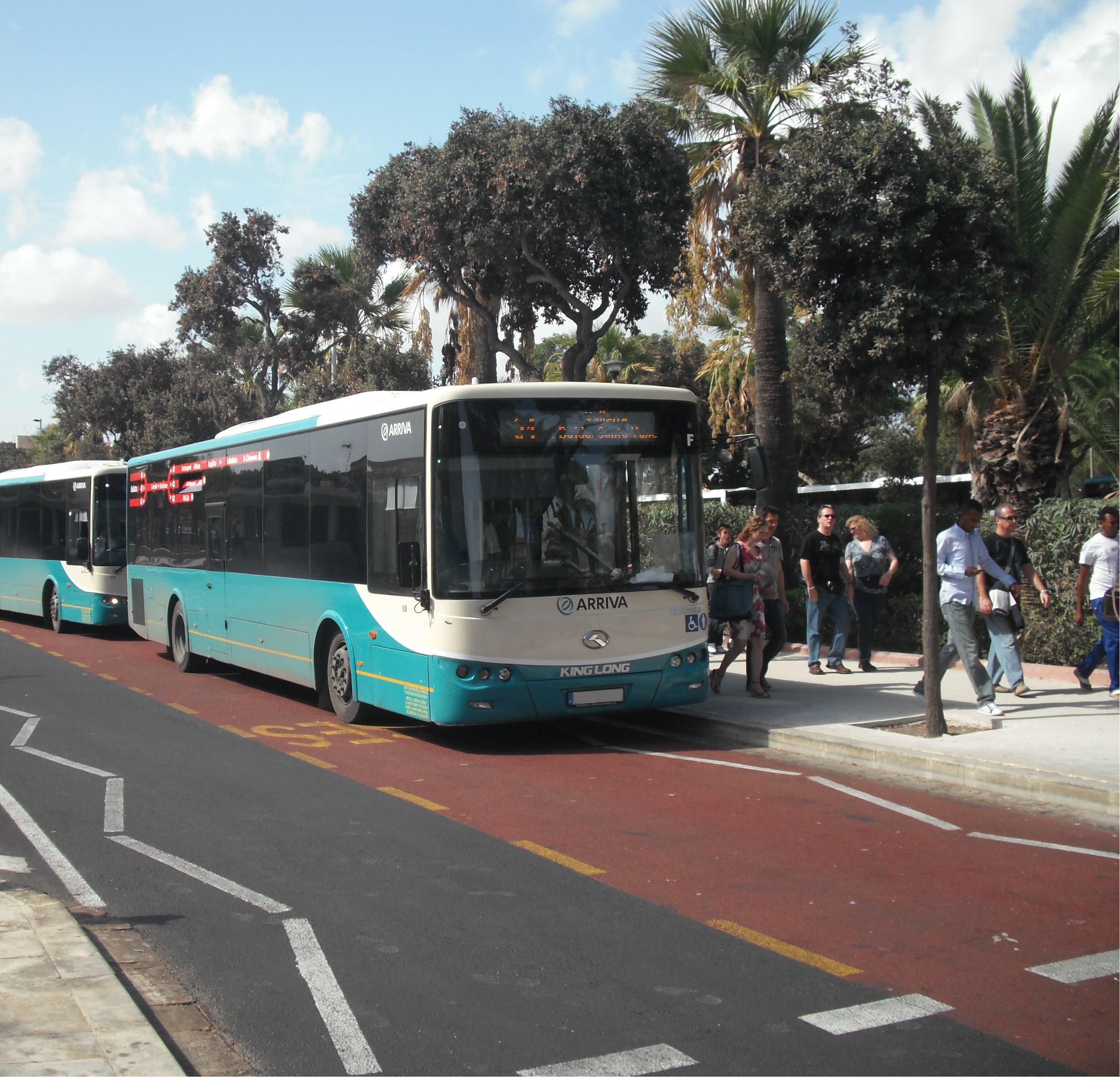 Maltesischer Linienbus (Lackierung ab Juli 2011)