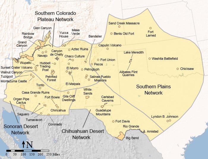 Southwestern United States HowlingPixel - Southwestern usa map