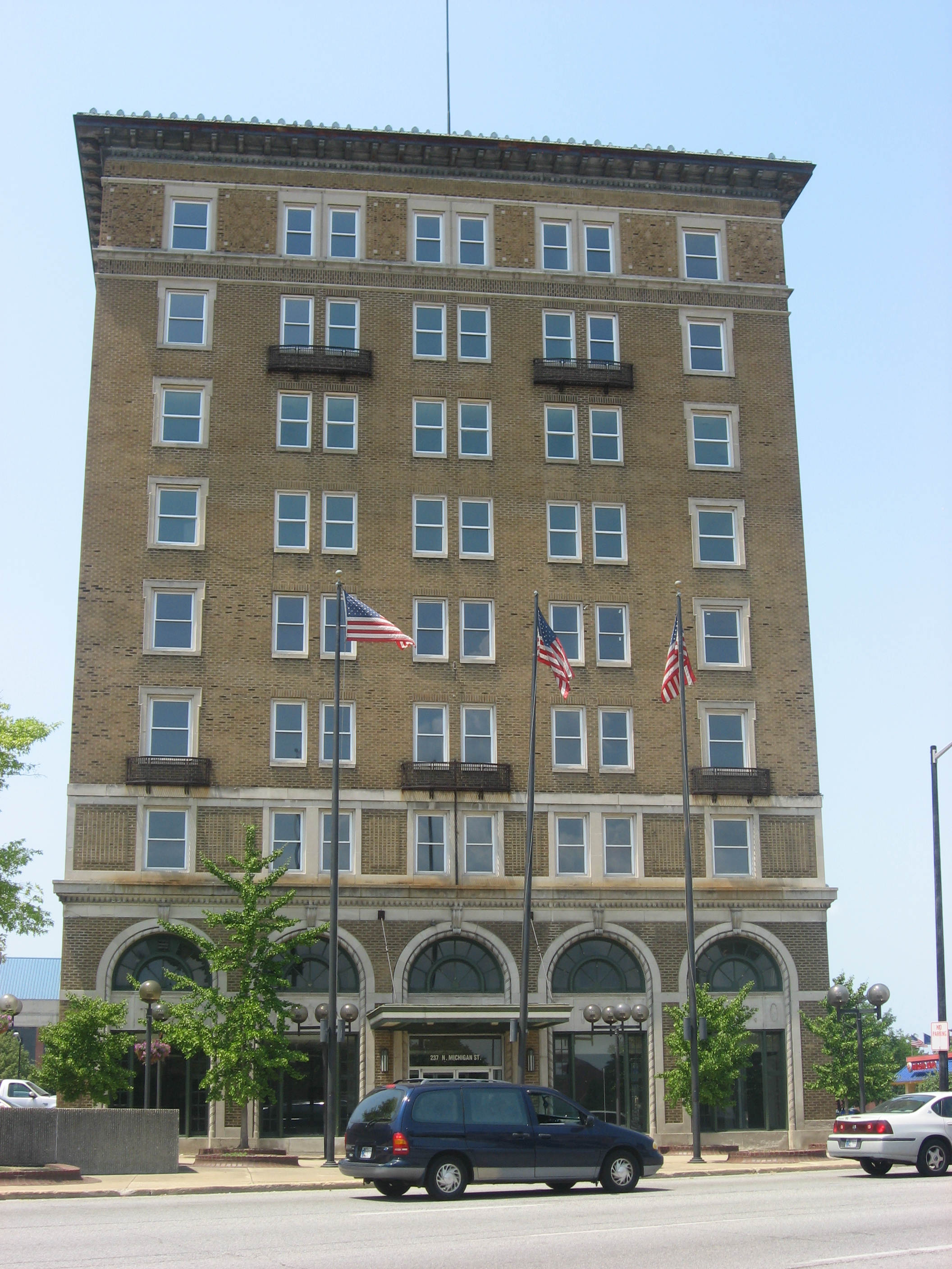 File Lasalle Hotel In South Bend Jpg Wikimedia Commons