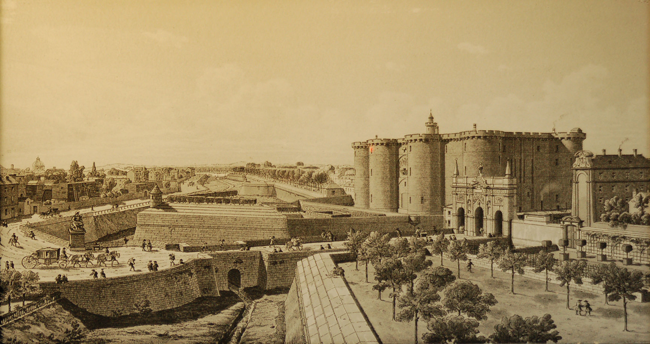 Бастилия и площадь Сен-Антуан перед Революцией