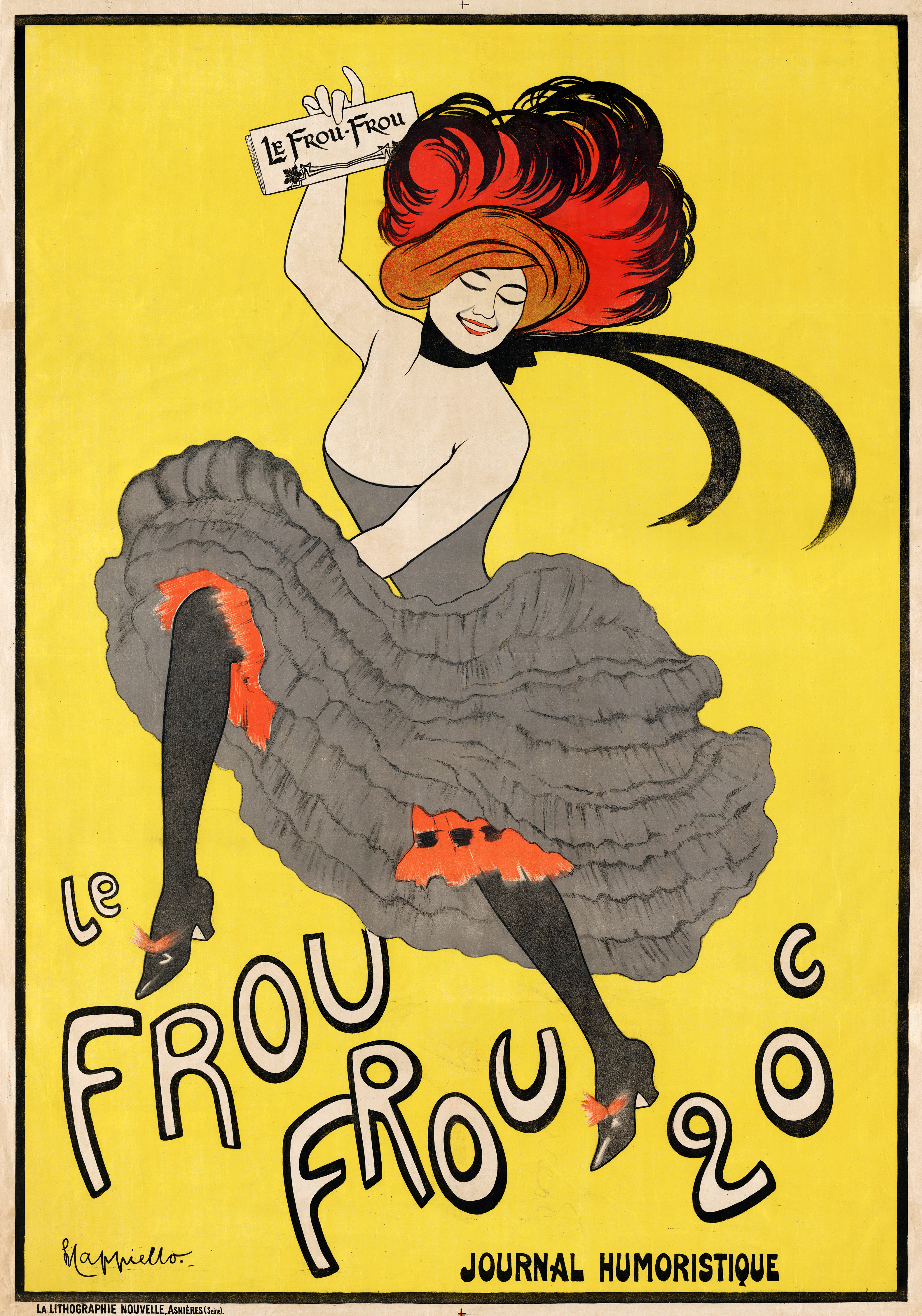 file le frou frou journal humoristique poster by leonetto