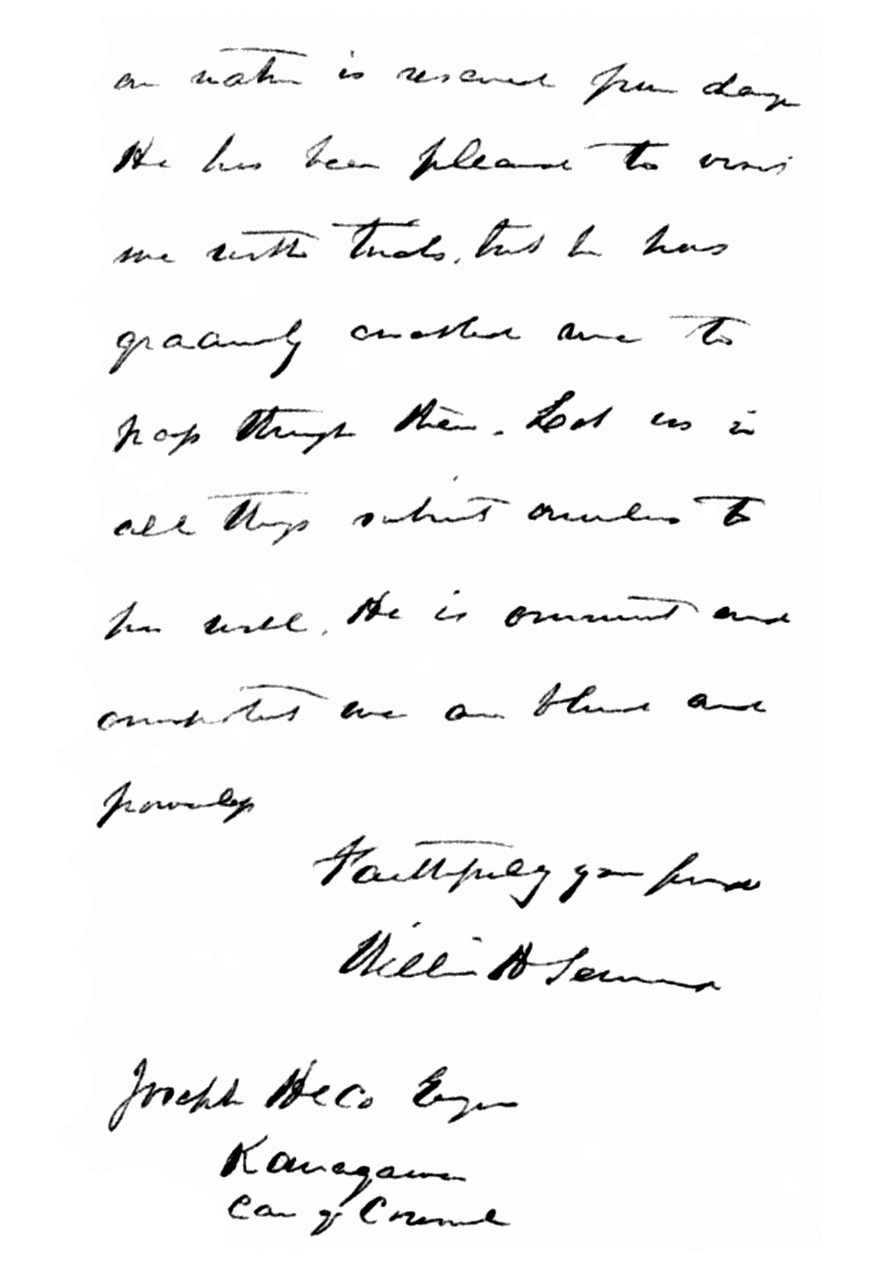 file letter from william h seward to joseph heco regarding  file letter from william h seward to joseph heco regarding assassination of abraham lincoln
