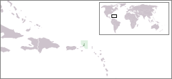 The location of the British Overseas Territory...