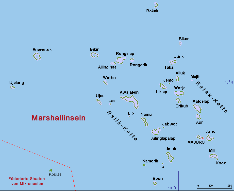 Kwajalein Atoll In The Marshall Islands Map