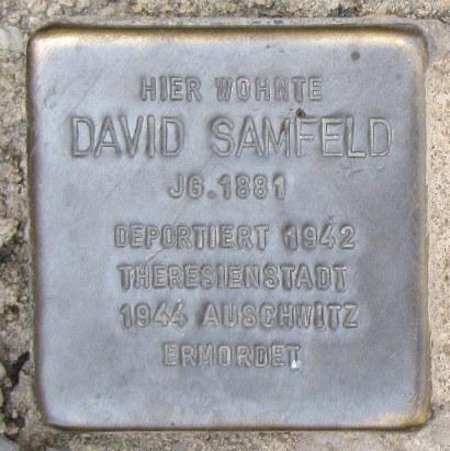 Mainbernheim Stolperstein Samfeld, David.jpg