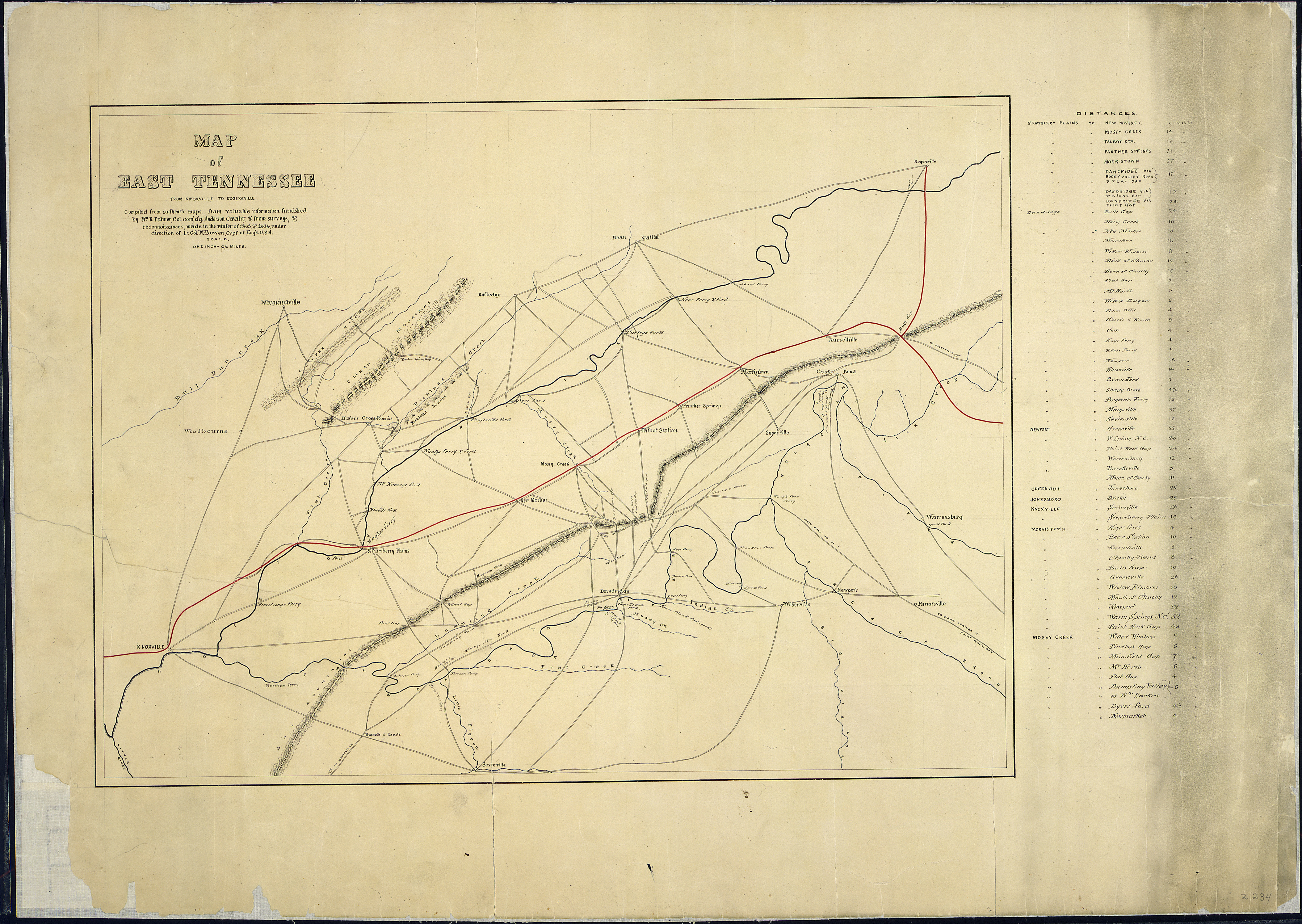 File:Map of East Tennessee from Knoxville to Rogersville. Compiled ...
