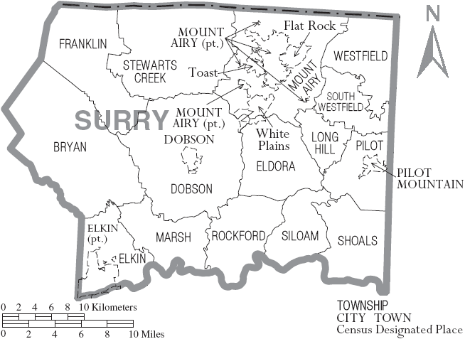 Holt Auto Sales >> File:Map of Surry County North Carolina With Municipal and Township Labels.PNG - Wikimedia Commons