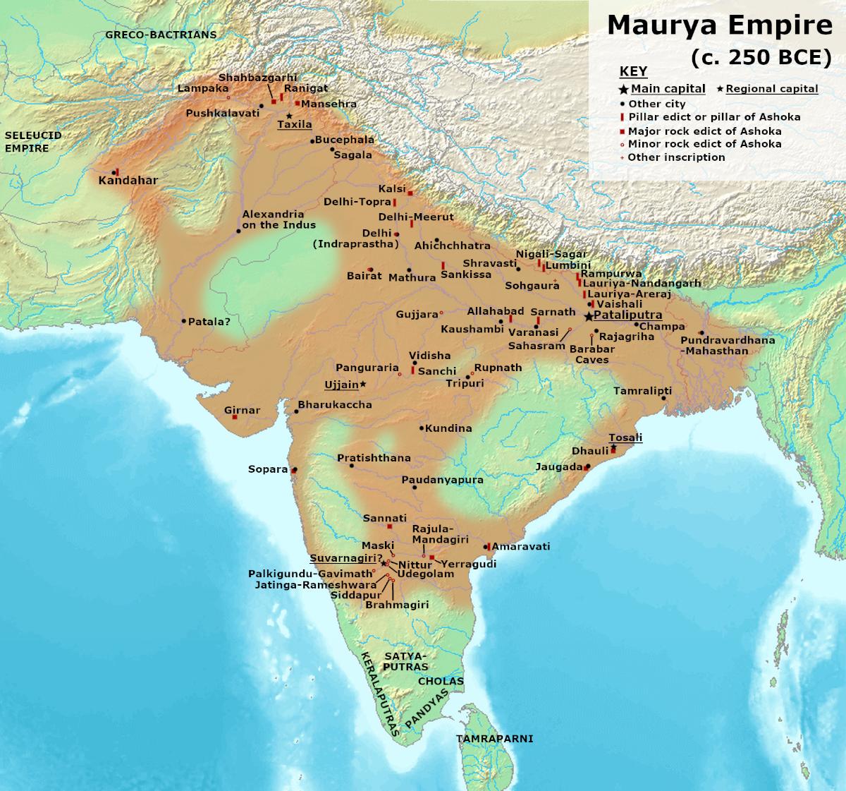 Maurya Dynasty in 250 BCE