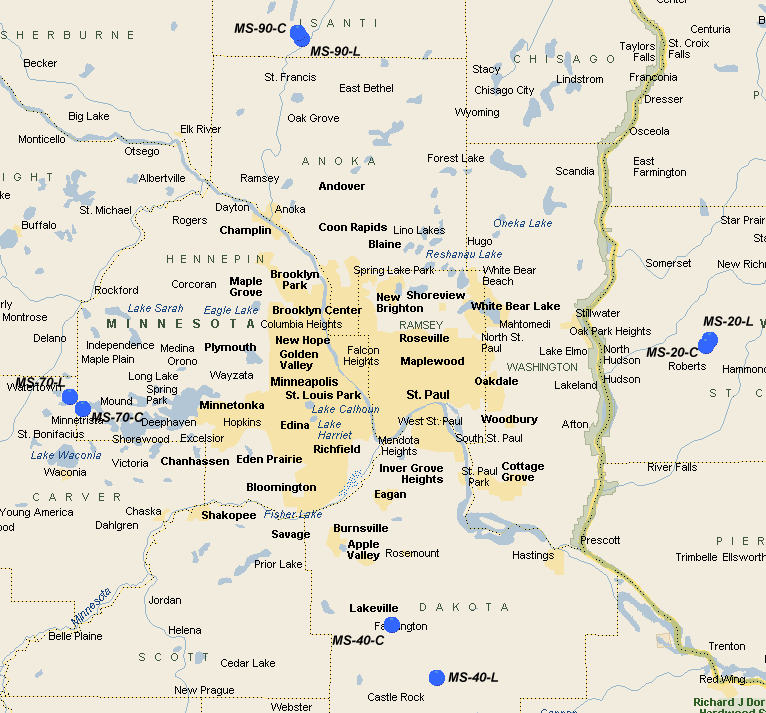 Nike Missile Site MS EBethelIsanti MN Th Air Force - Map of us missile silos