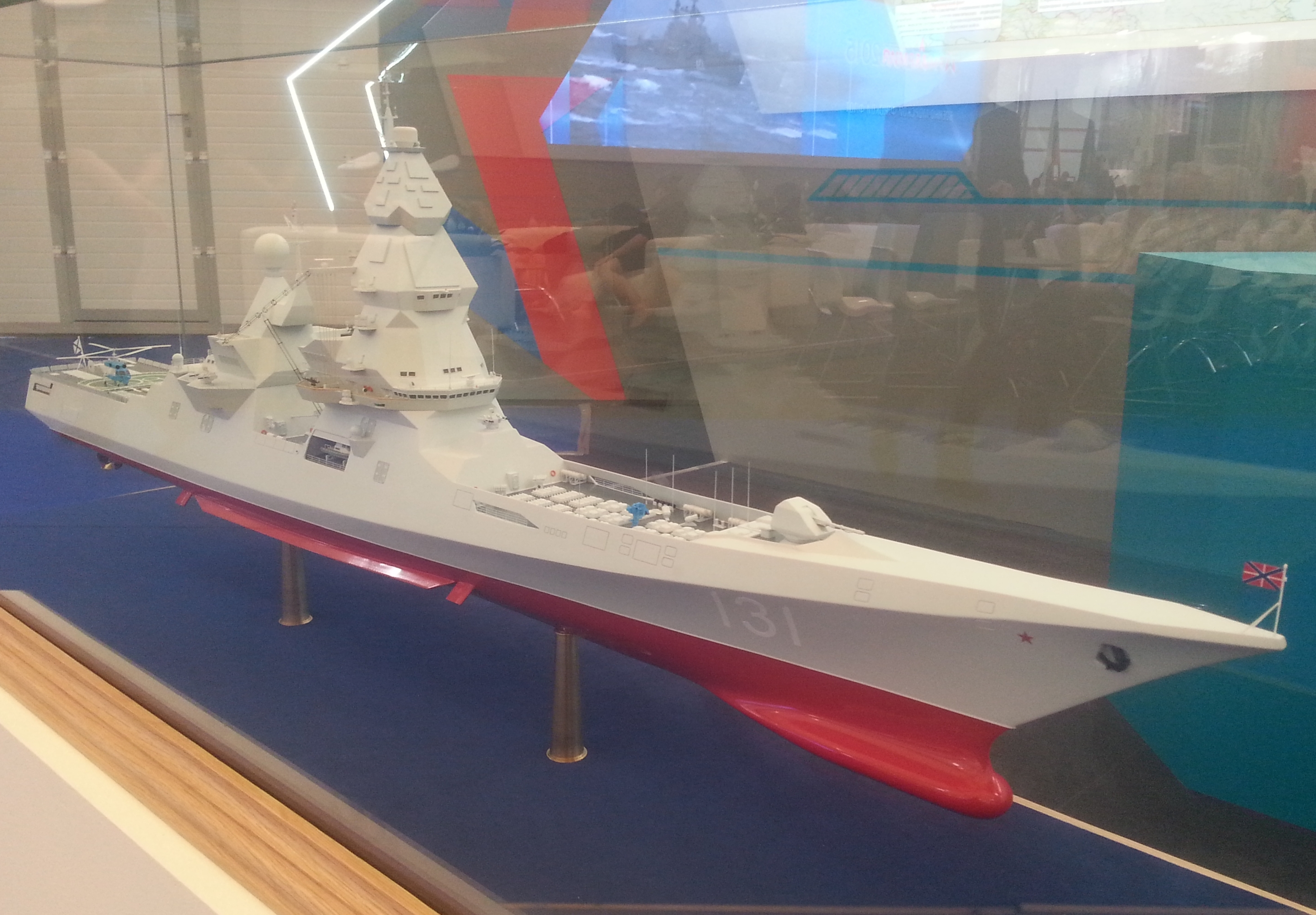 """Promising destroyer """"Lider-class"""" - Page 8 Mock_Leader_class_destroyer_on_%C2%ABArmy_2015%C2%BB_1"""