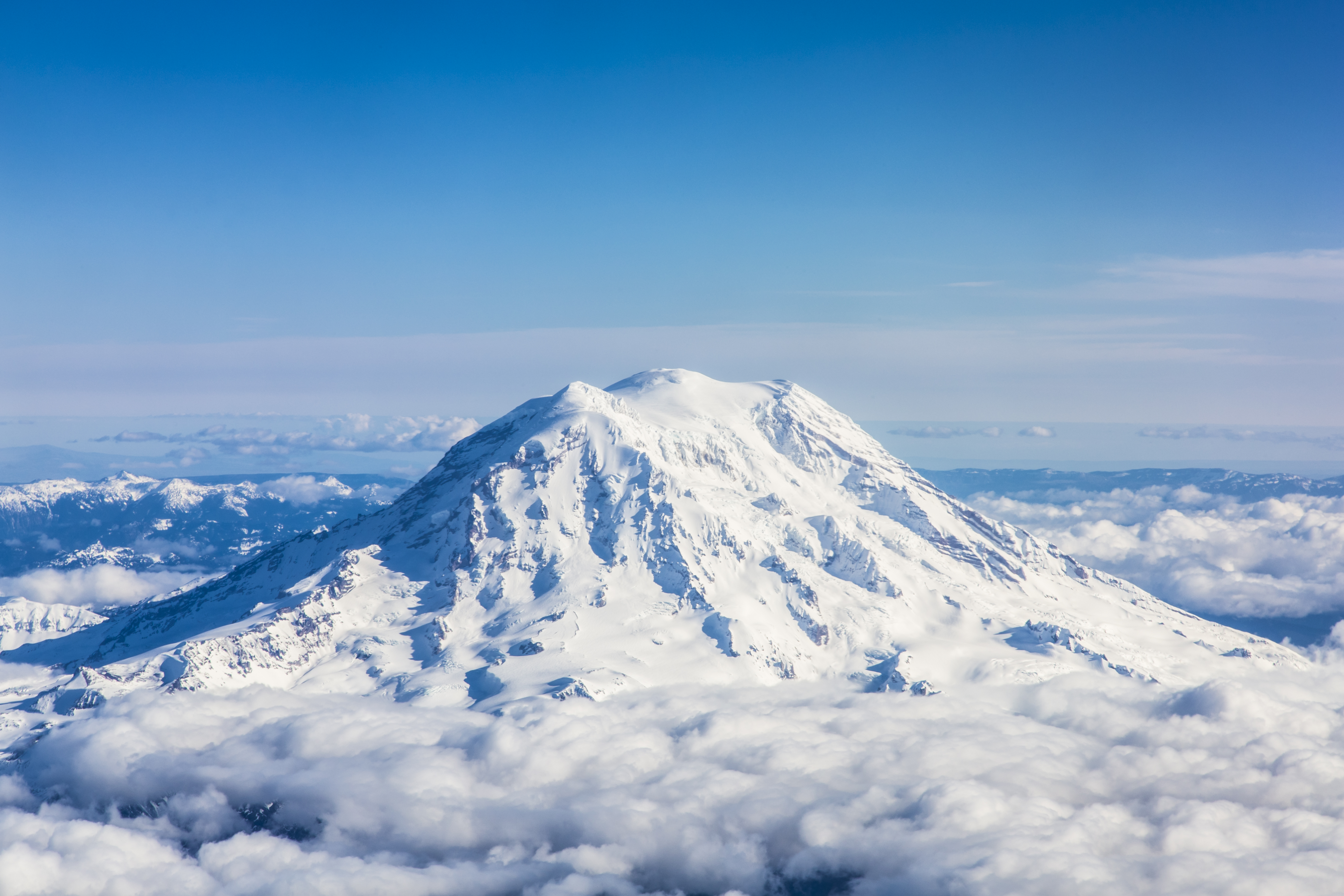 Mount Rainier from an aircraft