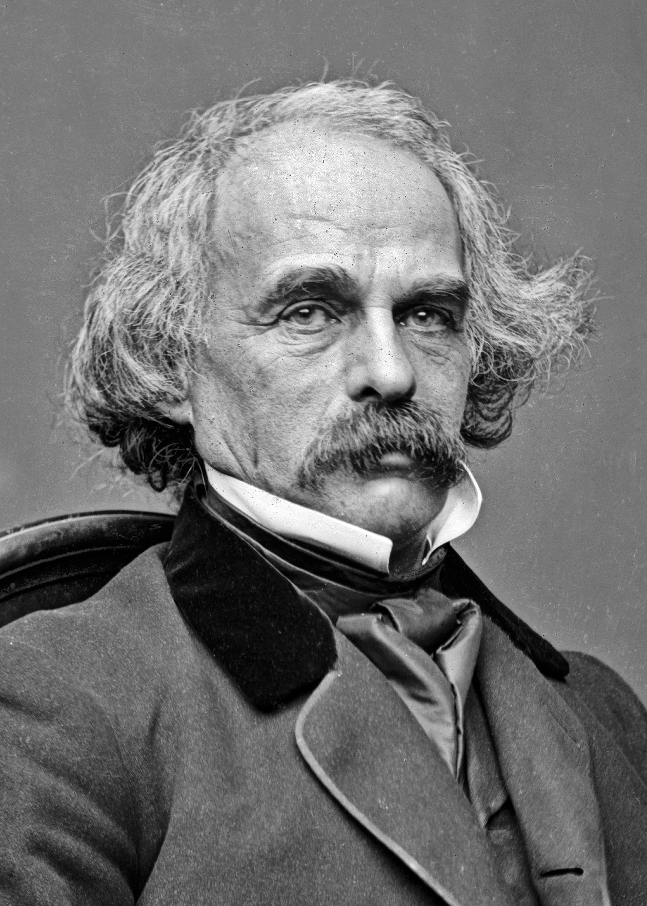 Nathaniel Hawthorne in the 1860s.<br /> Photograph by [[Mathew Brady]]