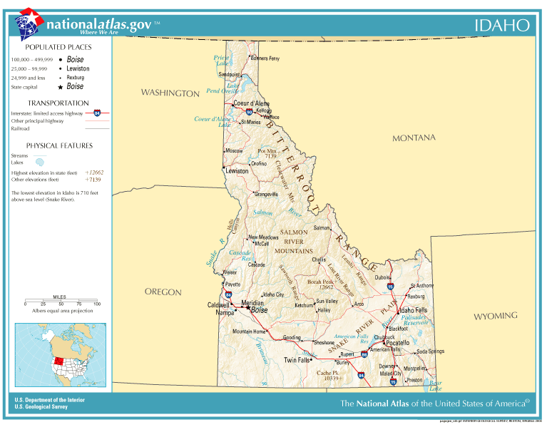 Filenationalatlasidaho Wikimedia Mons: Map Of Idaho State Parks At Usa Maps