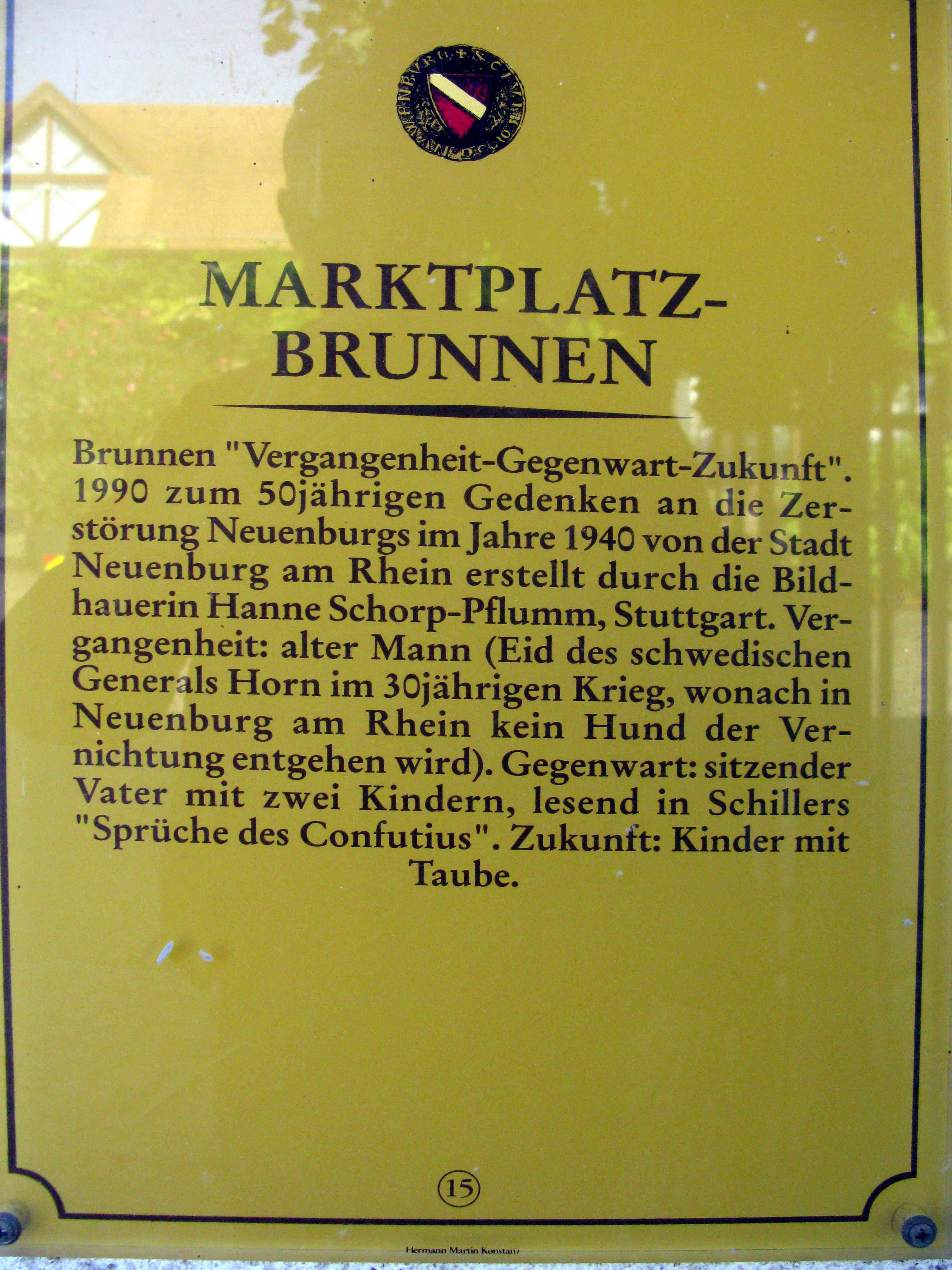 File Neuenburg Am Rhein Geschichtstafel 15 Marktplatzbrunnen Jpg