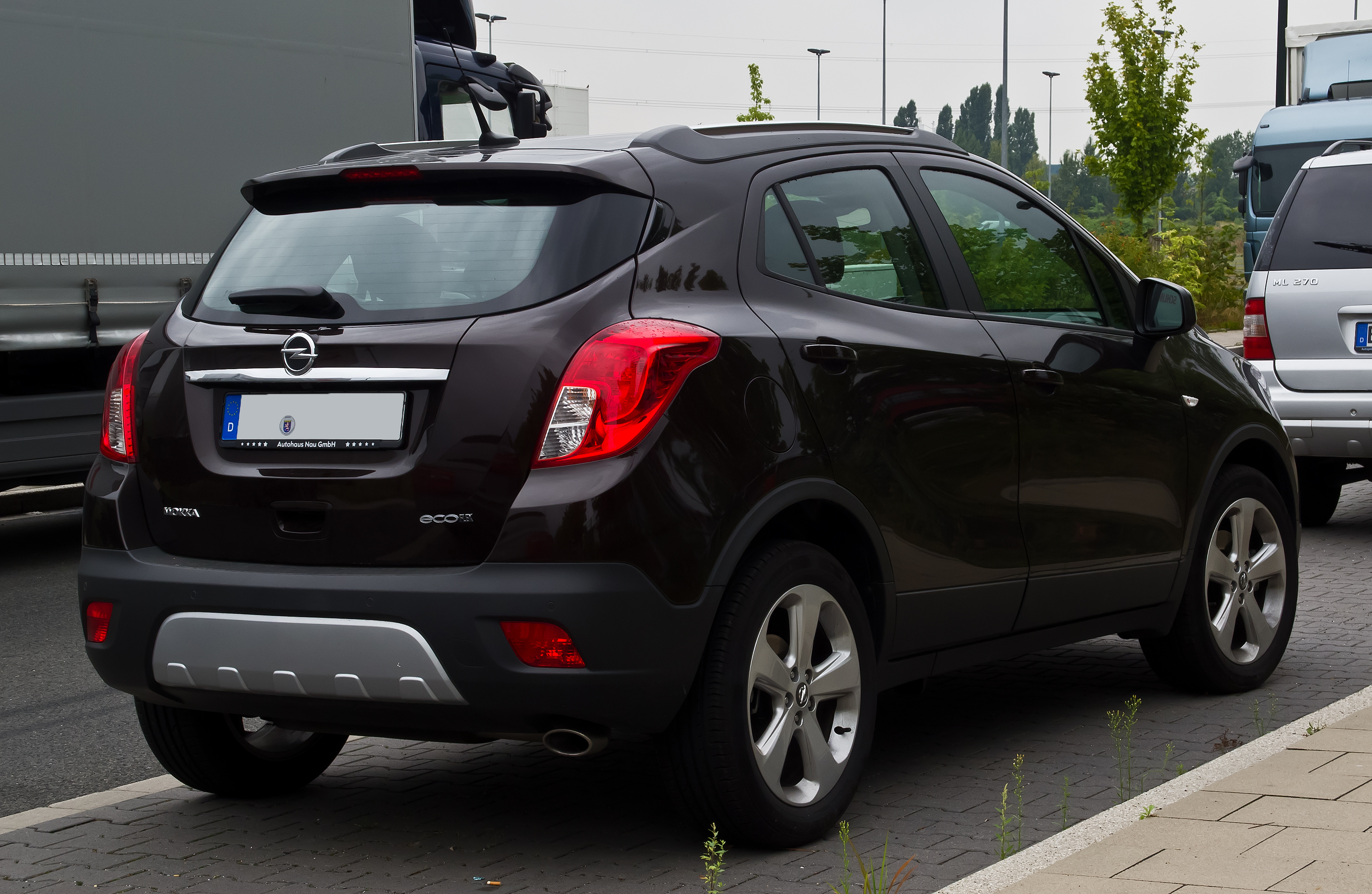 file opel mokka ecoflex edition heckansicht 25 august 2013 d wikimedia commons. Black Bedroom Furniture Sets. Home Design Ideas