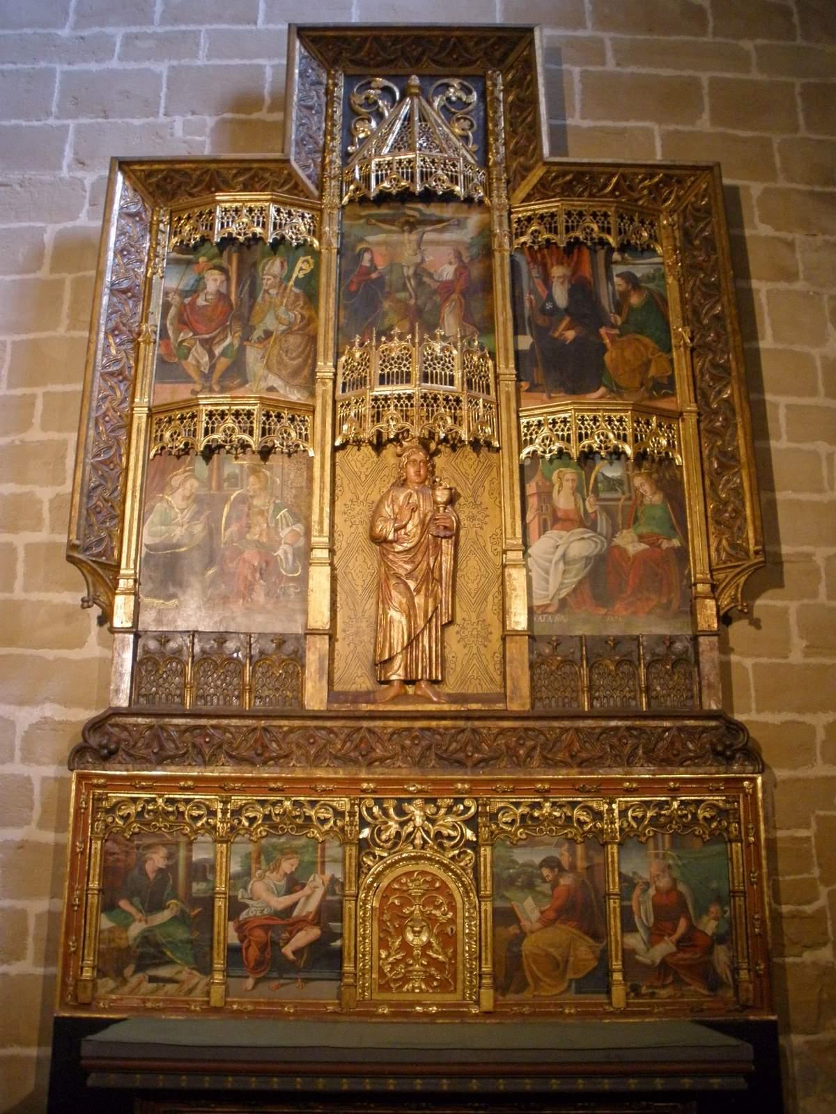 File pamplona catedral retablo de la capilla de san for Piscinas san juan pamplona