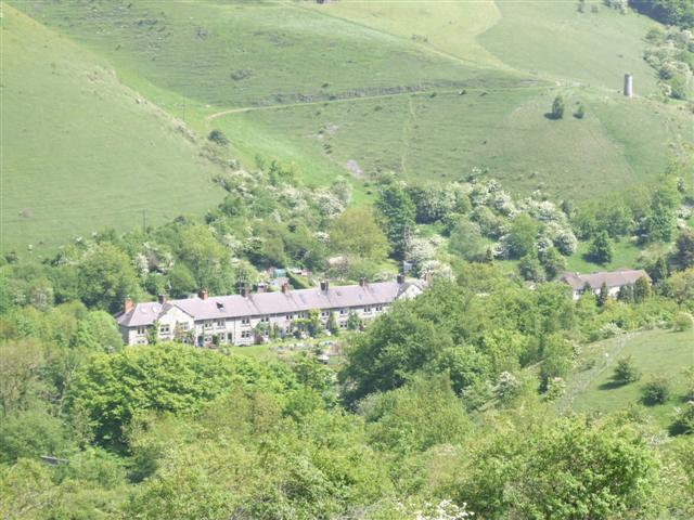 Panoramic view of Litton Mill - geograph.org.uk - 181645