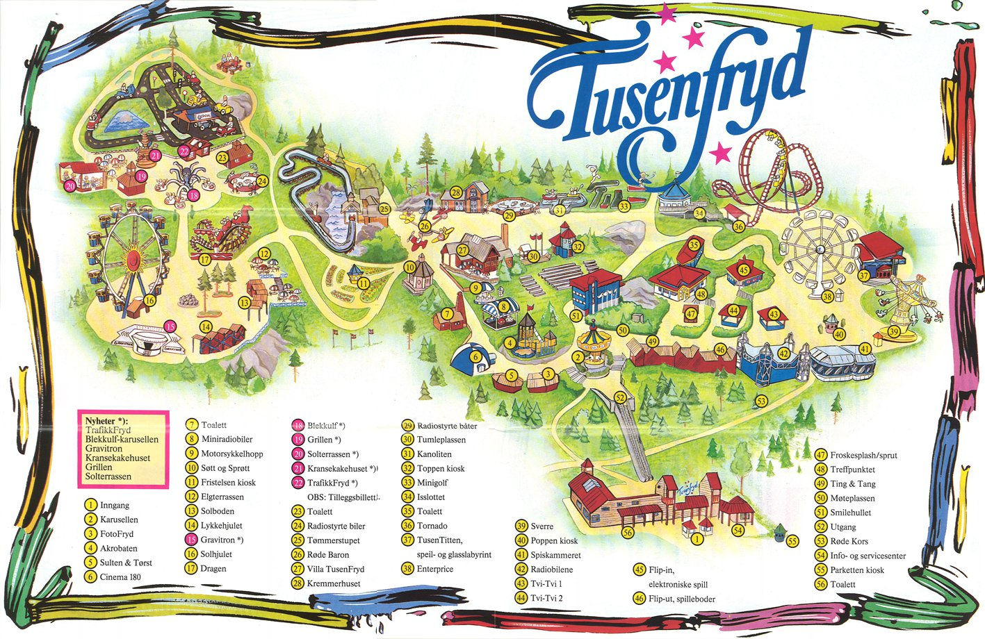 tusenfryd kart File:Parkkart fra TusenFryd (1990).   Wikimedia Commons tusenfryd kart