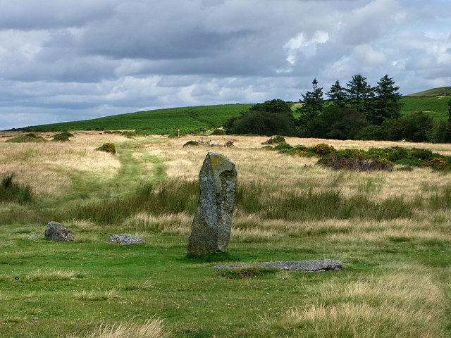Part of Mitchell's Fold, stone circle - geograph.org.uk - 1564730