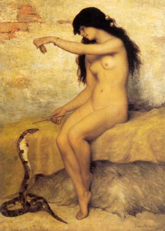 la charmeuse de serpent nue
