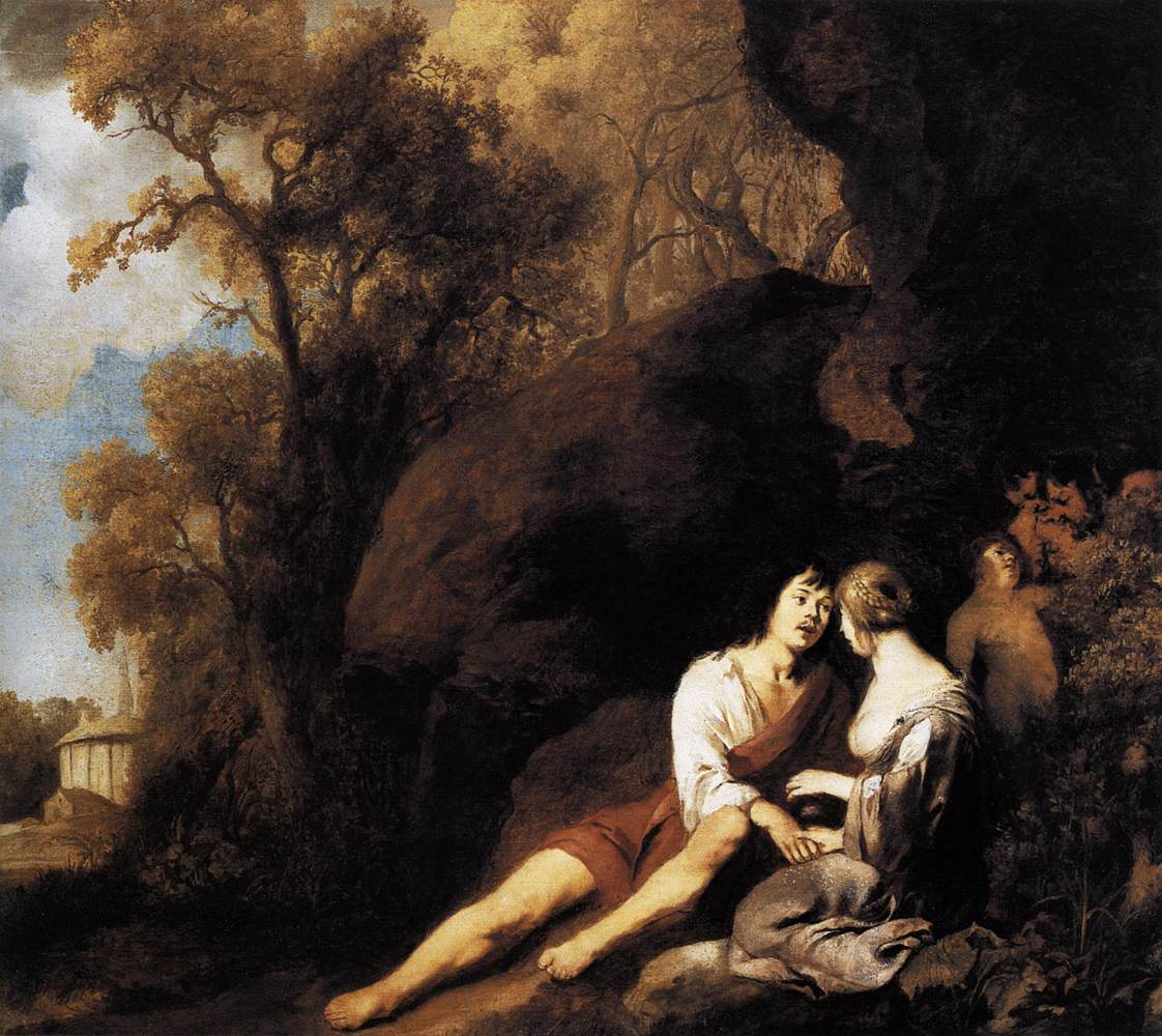 Amorous Pics file:peter lely - amorous couple in a landscape - wga12645