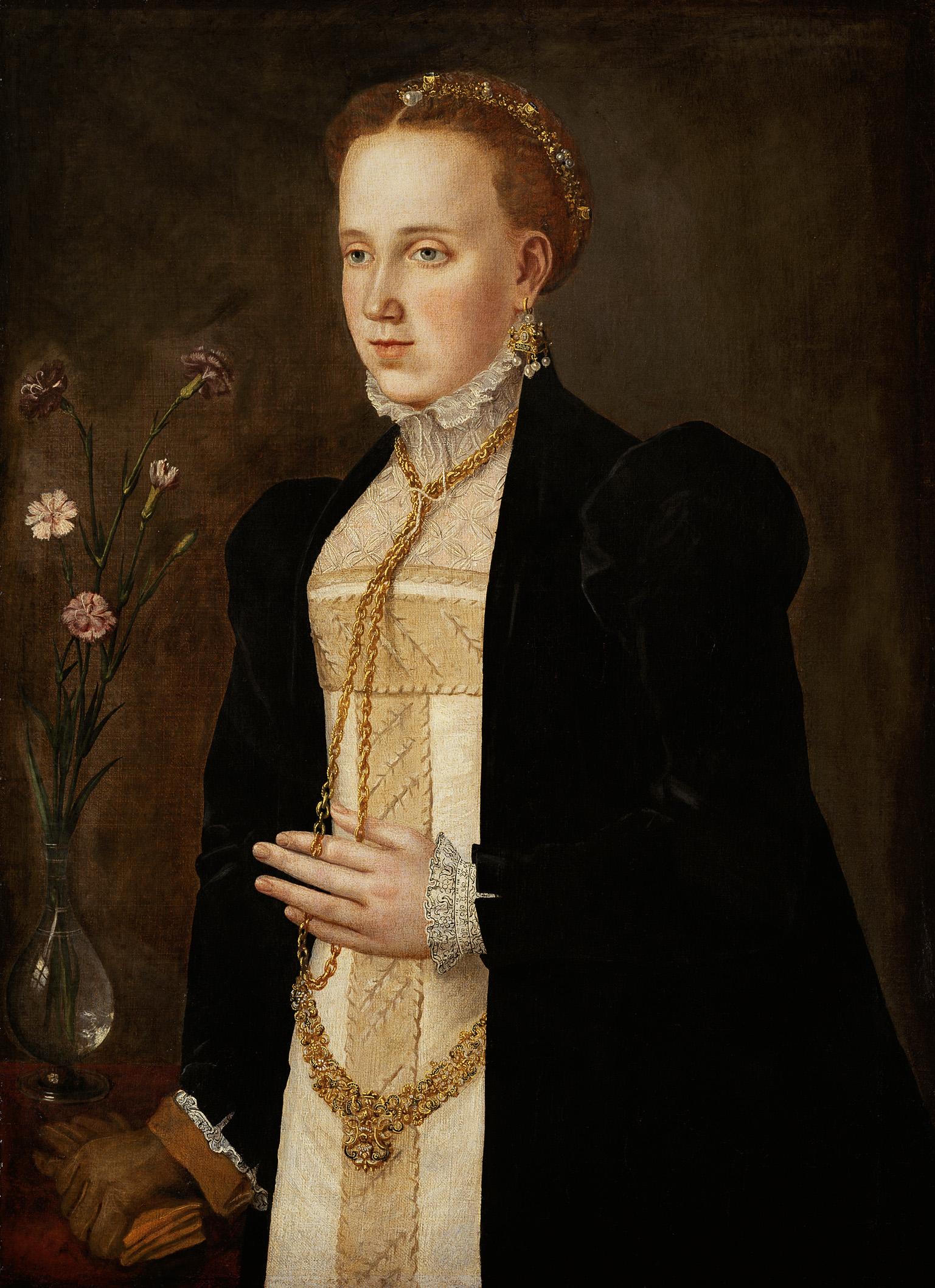 Philippine Welser, Portrait on Castle Ambras