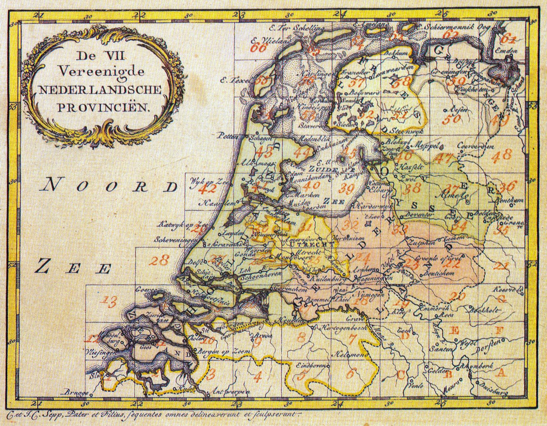Intruductie over Nederland 2. Republiek_kaart
