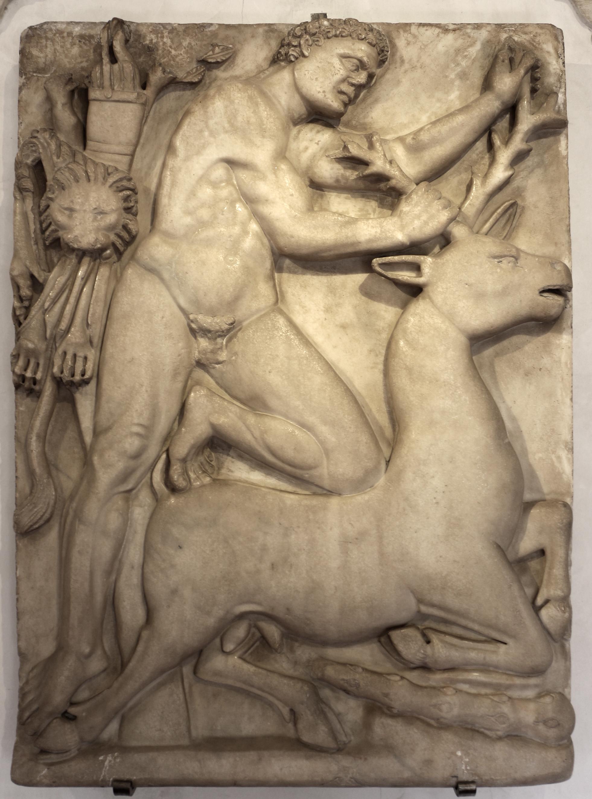 Risultati immagini per Eracle e la cerva di Cerinea immagini in jpg
