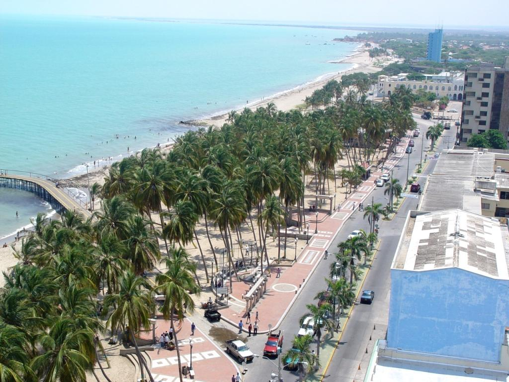 View of Downtown Riohacha, from Cienaga Salada Park