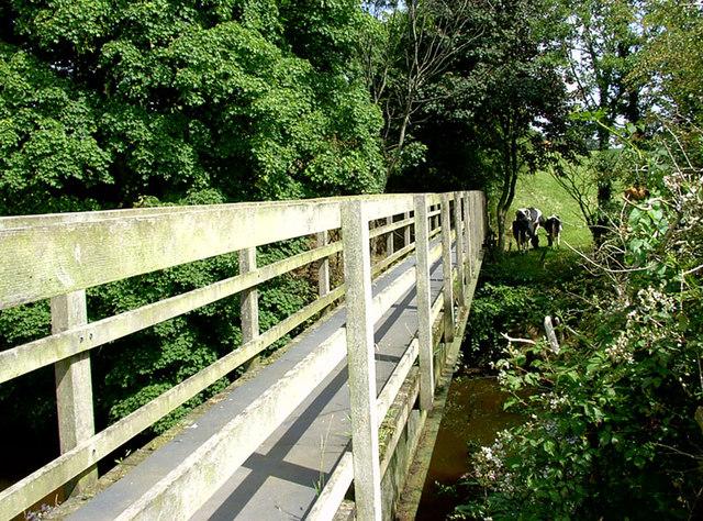 River Dane footbridge - geograph.org.uk - 898112
