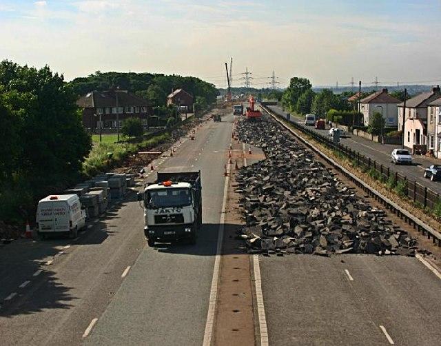 File Road Removal At Fairburn Geograph Org Uk 20678
