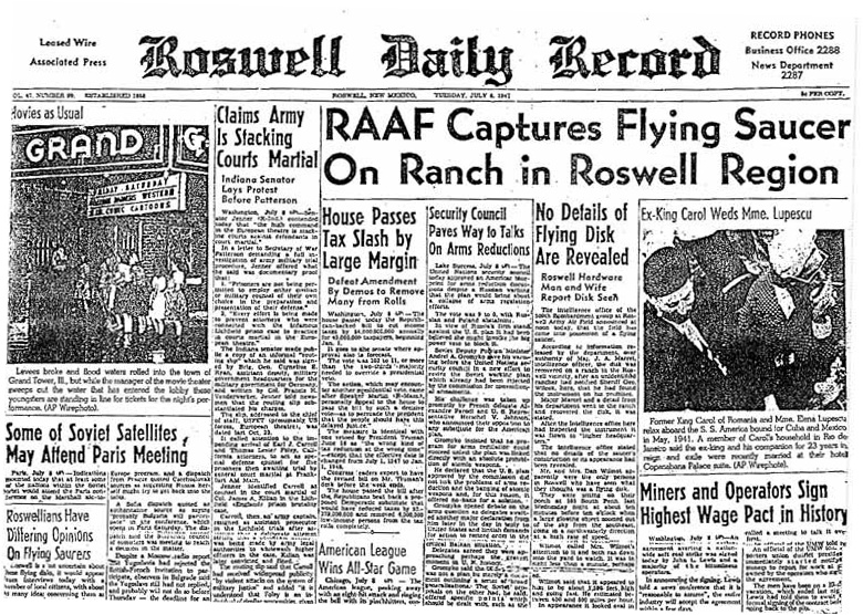 Image result for 1947 Roswell crash