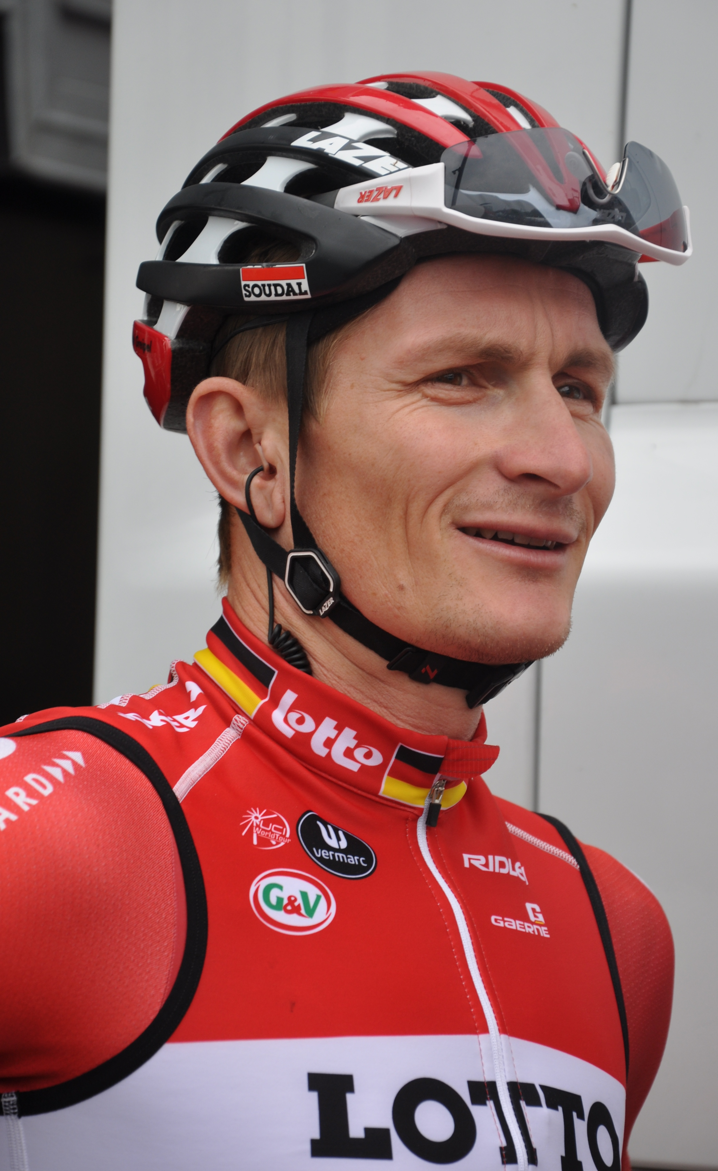 The 36-year old son of father (?) and mother(?) André Greipel in 2018 photo. André Greipel earned a  million dollar salary - leaving the net worth at 0.2 million in 2018