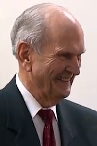 Russell M. Nelson, the current president of the LDS Church (since Jan 2018). Islam believes Muhammad was the last prophet, while the LDS Church believes in a line of prophets extending from Joseph Smith to the present day.