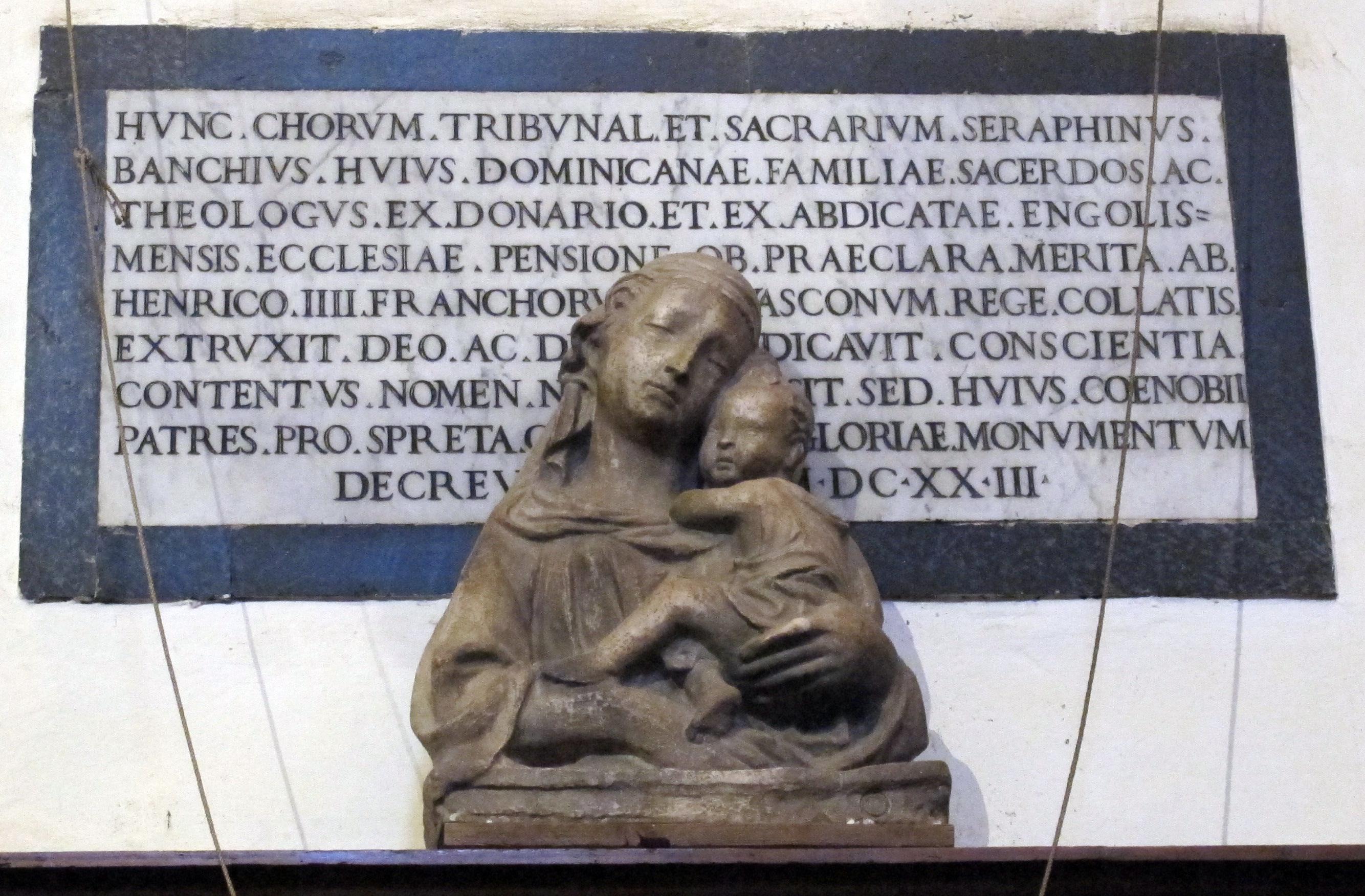 File:S.domenico, coro, lapide e busto di madonna della manifattura ...