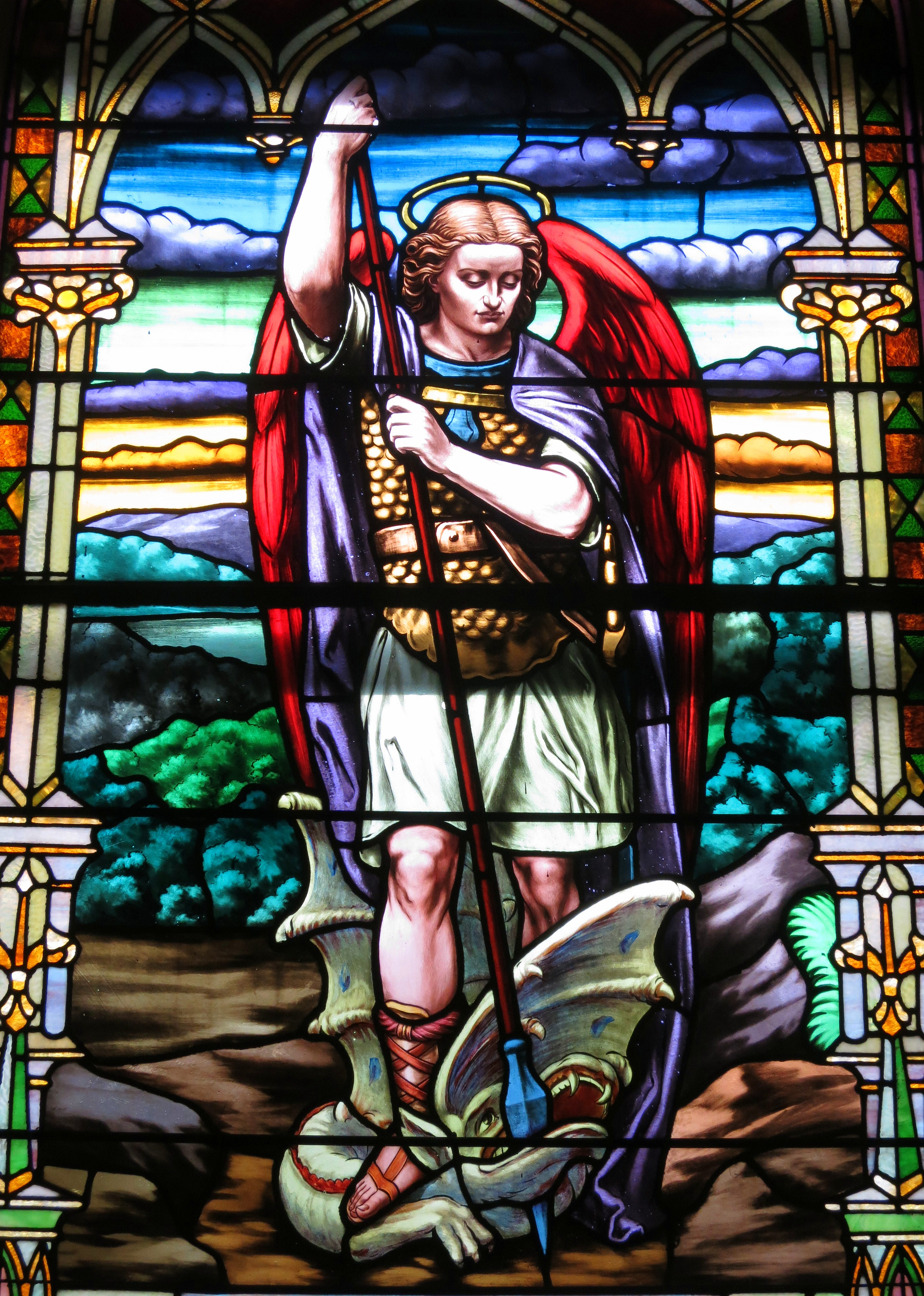 Archangel Michael Stained Glass Window