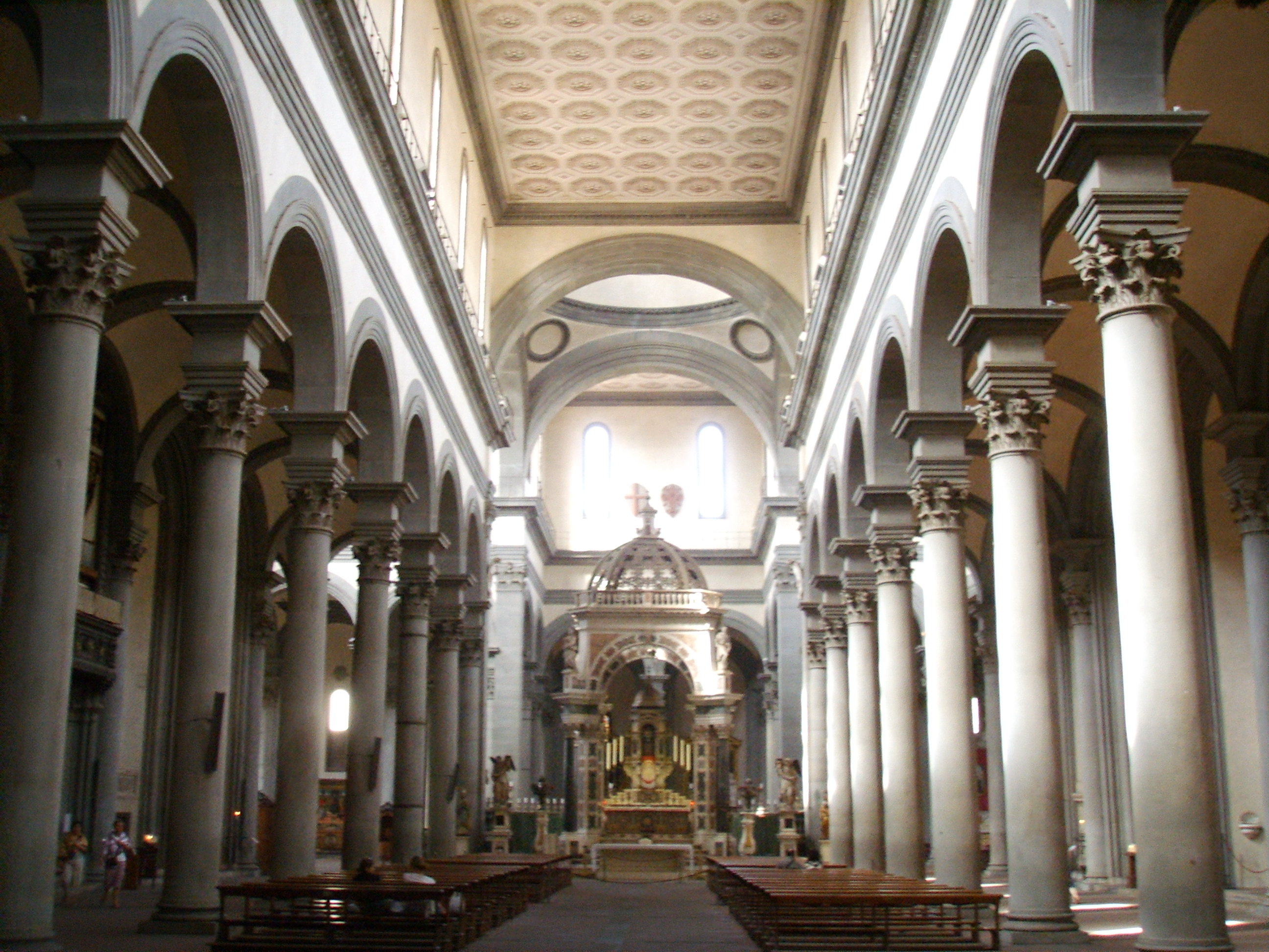 File santo spirito inside 1 jpg wikipedia for Architecture quattrocento