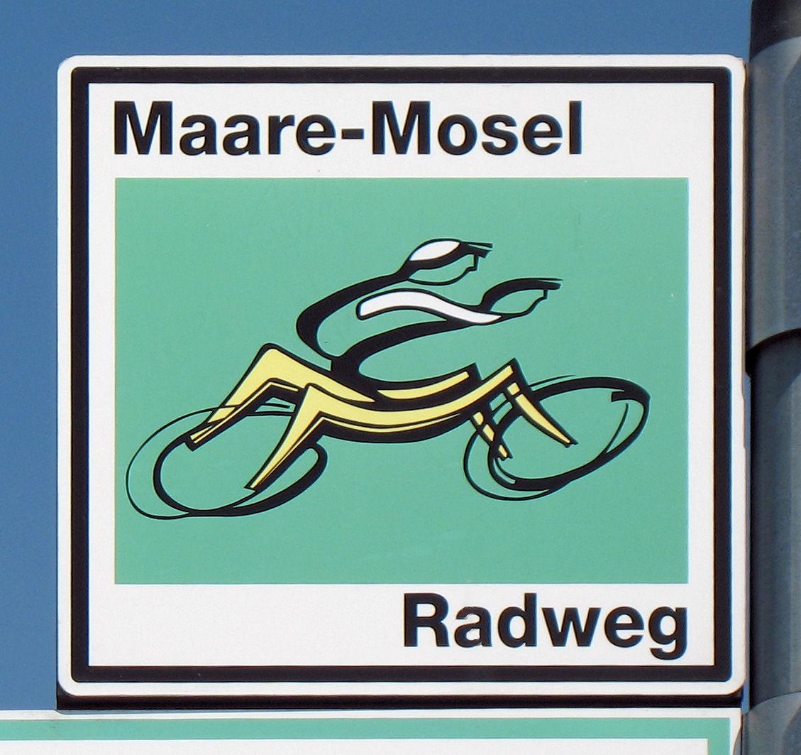Schild Maare Mosel Radweg