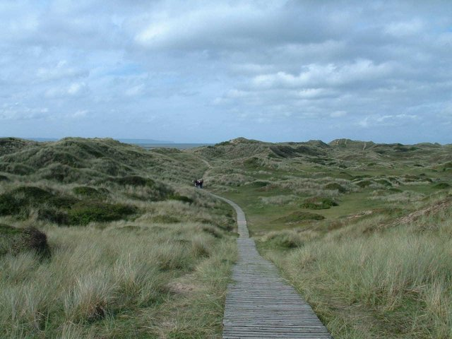 South West Coast Path at Braunton Burrows - geograph.org.uk - 5694