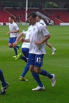 Gregory warming up before a game in 2014