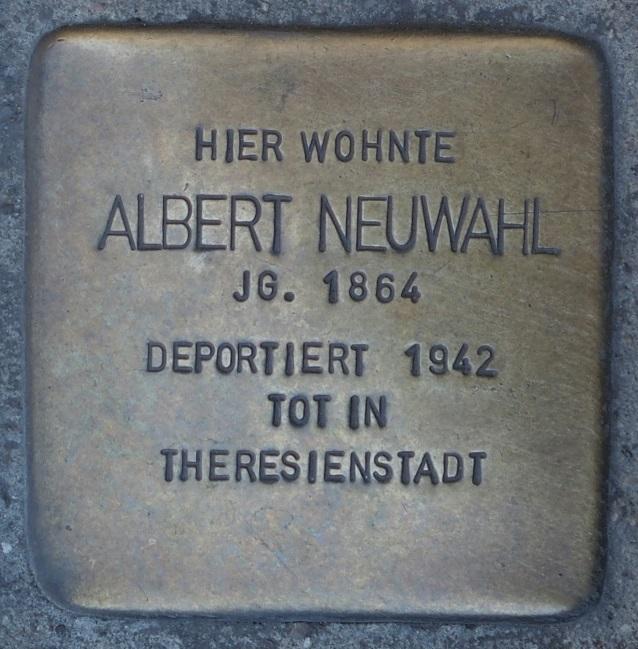 Stolperstein in Soest Brüderstraße 36, Albert Neuwahl