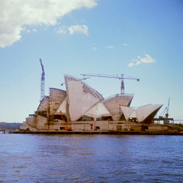 Construction progress in 1966