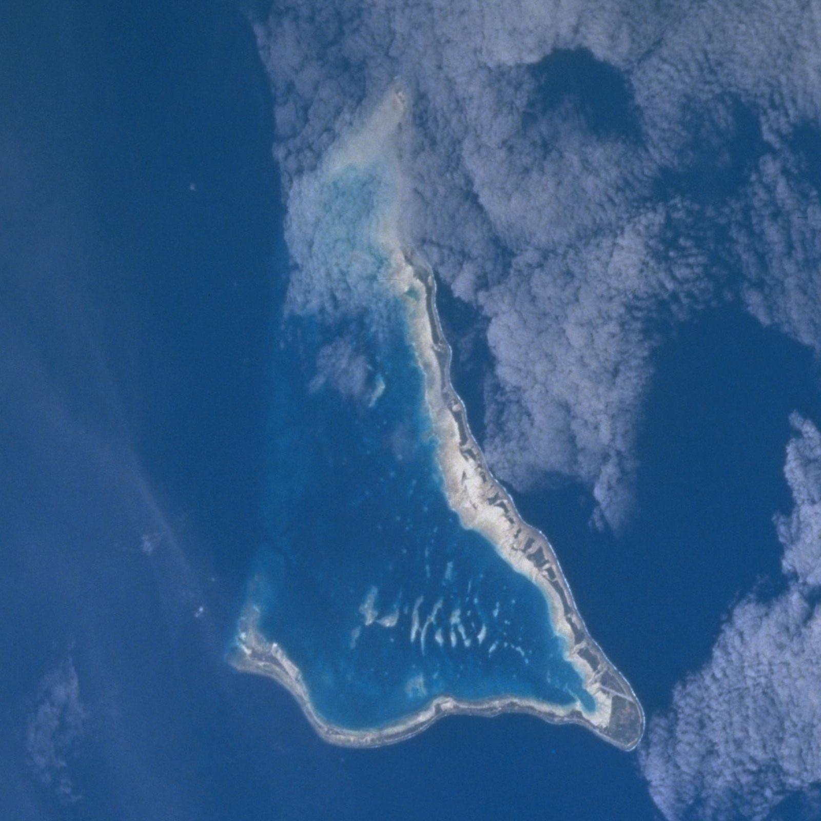 NASA-Bild von Tarawa