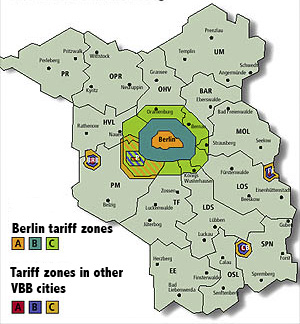 Berlin and the state of Brandenburg with VBB f...