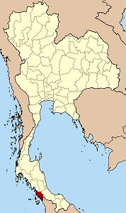 サトゥーン県の位置