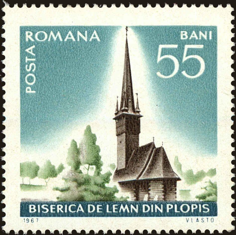 Fișier:Timbru Biserica de lemn Plopis.jpg