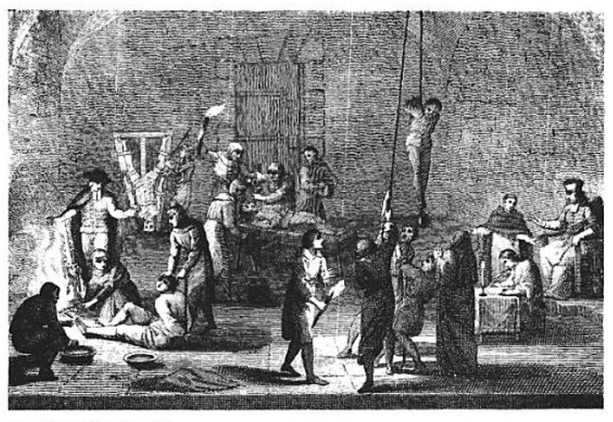 Torture Chamber of the Inquisition from Moore's Martyrology