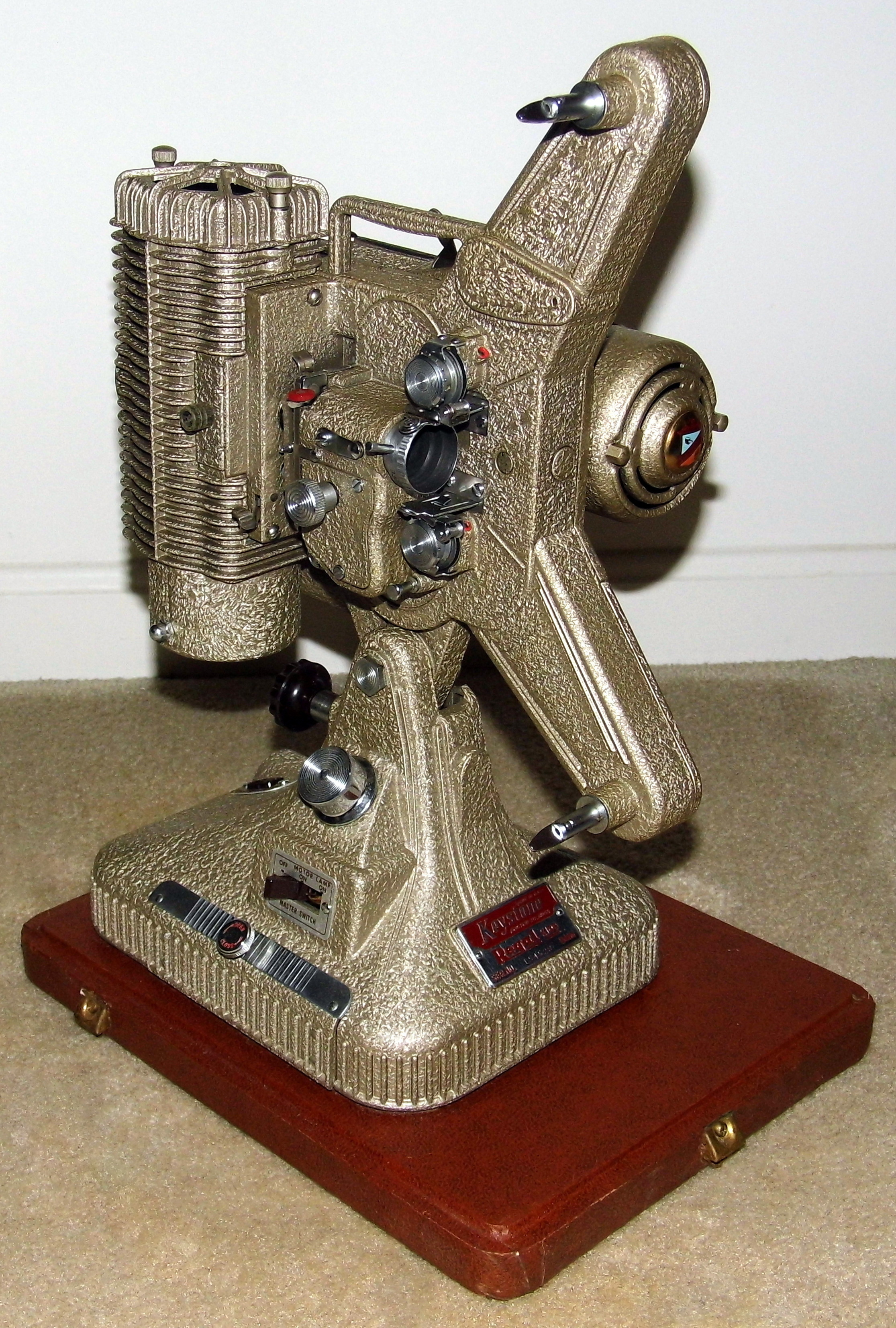 filevintage keystone regal 8mm movie projector model